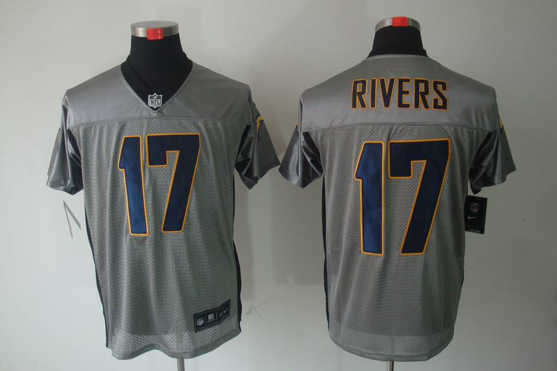 San Diego Charger 17 Philip Rivers Nike Gray shadow jerseys