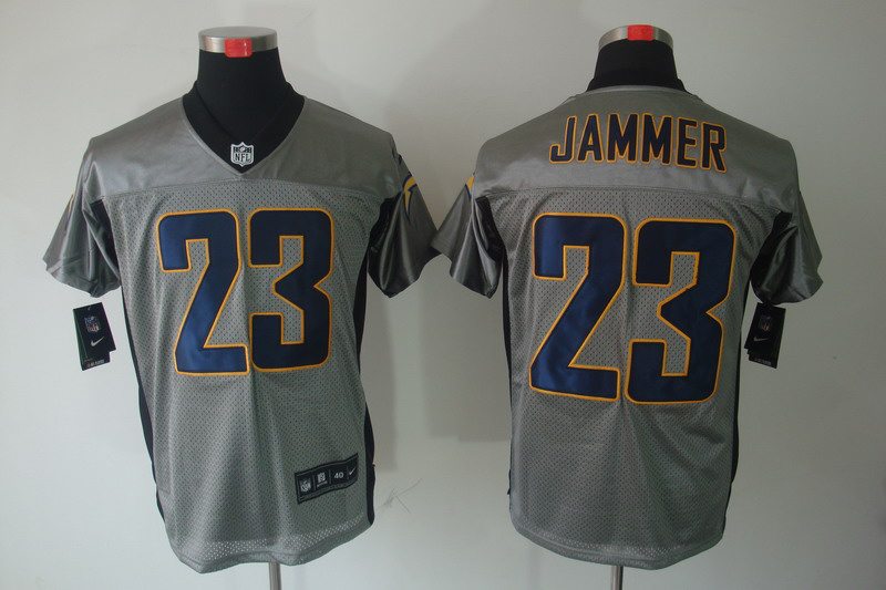 San Diego Charger 23 Jammeer Nike Gray shadow jerseys