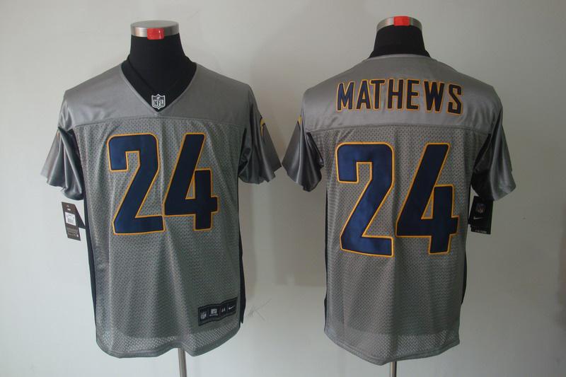 San Diego Charger 24 Ryan Mathews Nike Gray shadow jerseys