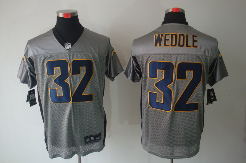 San Diego Charger 32 Weddle Nike Gray shadow jerseys