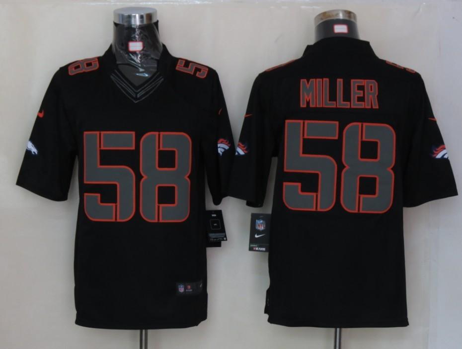Denver Broncos 58 Miller Impact Limited Black nike Jersey