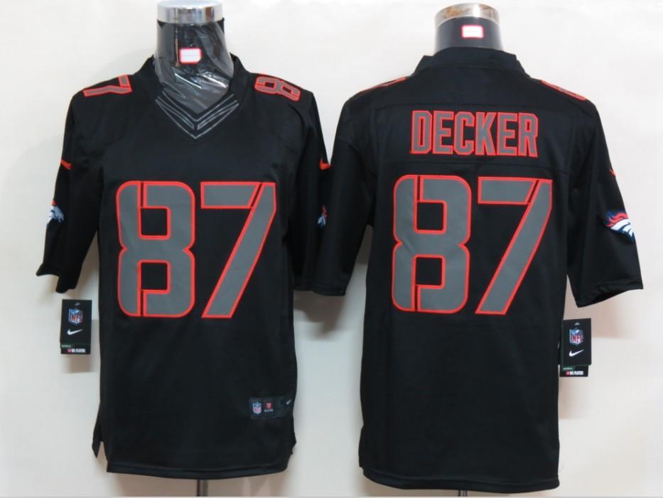Denver Broncos 87 Decker Impact Limited Black nike Jersey