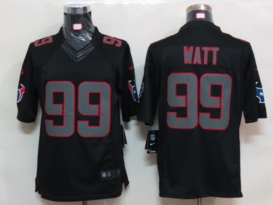 Houston Texans 99 Watt Impact Limited Black nike Jersey