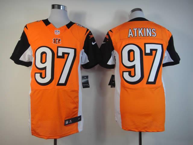 Cincinnati Bengals 97 Atkins Orange Elite Nike jerseys