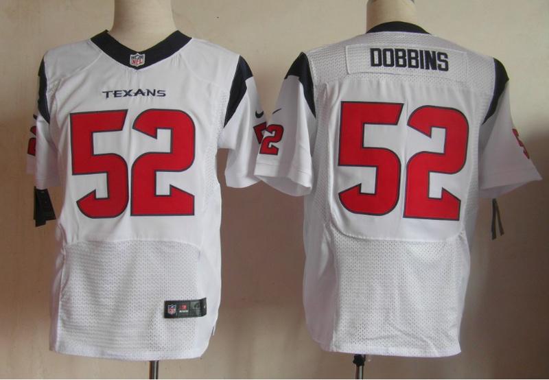 Houston Texans 52 Dobbins white Elite Nike jerseys