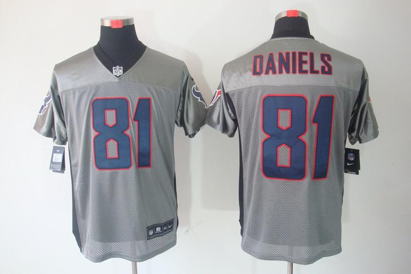 Houston Texans 81 Daniels Nike Gray shadow jerseys