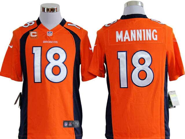 Denver Broncos 18 Manning Orange1 Game Nike jerseys