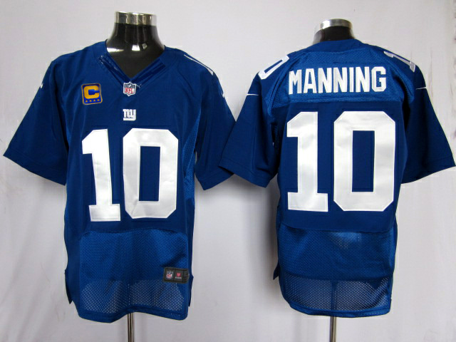 New York Giants 10 Manning Blue Elite Nike jerseys