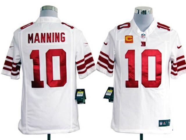 New York Giants 10 Manning White1 Game Nike jerseys