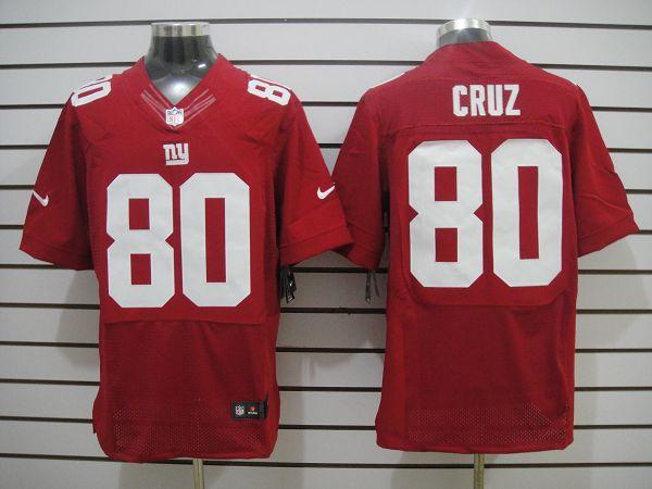 New York Giants 80 Cruz Red Elite Nike jerseys