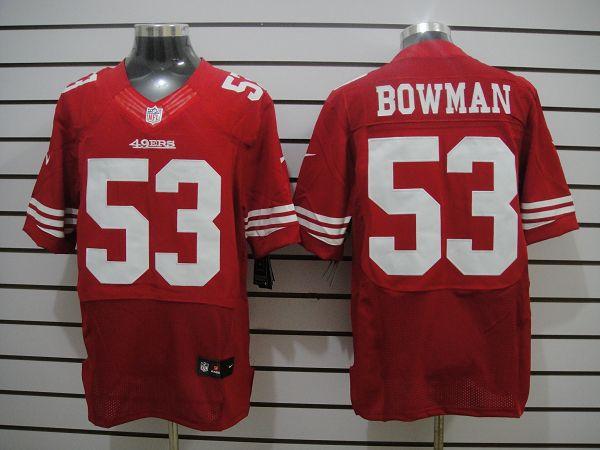 San Francisco 49ers 53 Bowman Red Elite Nike jerseys