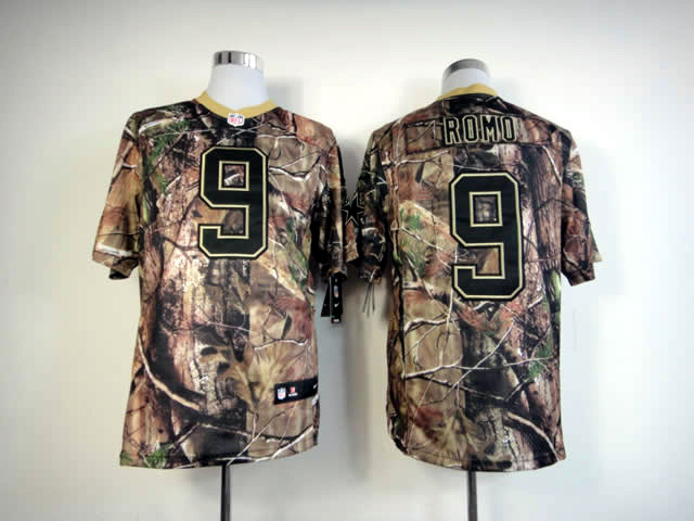 Dallas cowboys 9 Romo Camo Elite Nike jerseys