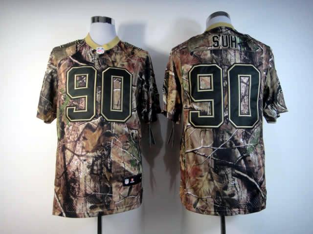 Detroit Lions 90 Suh Camo Elite Nike jerseys