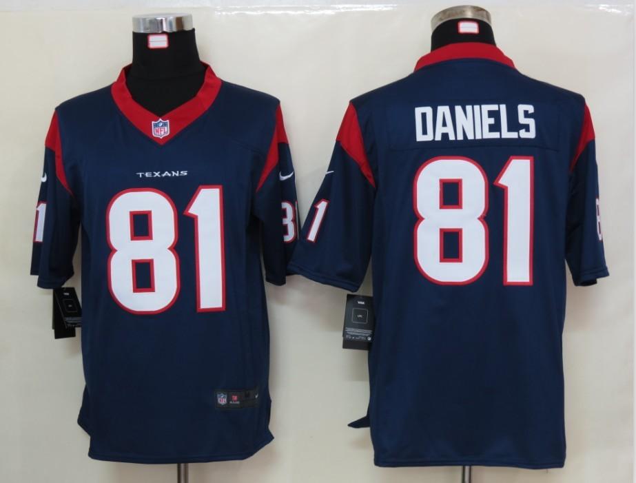 Houston Texans 81 Daniels Blue Nike Limited Jersey
