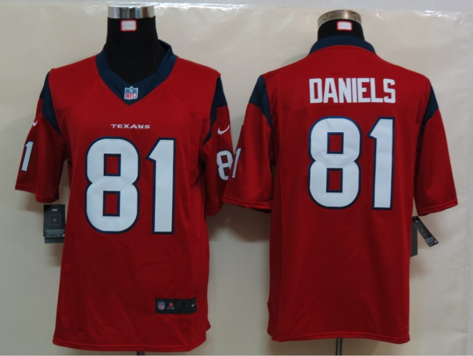 Houston Texans 81 Daniels Red Nike Limited Jersey