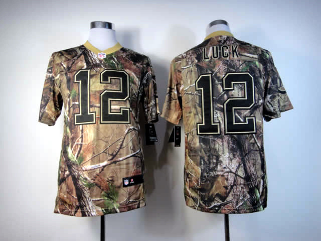 Indianapolis Colts 12 Luck Camo Elite Nike jerseys