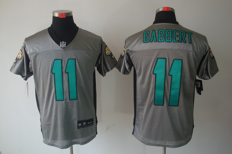 Jacksonville Jaguars 11 Gabbert Nike Gray shadow jerseys