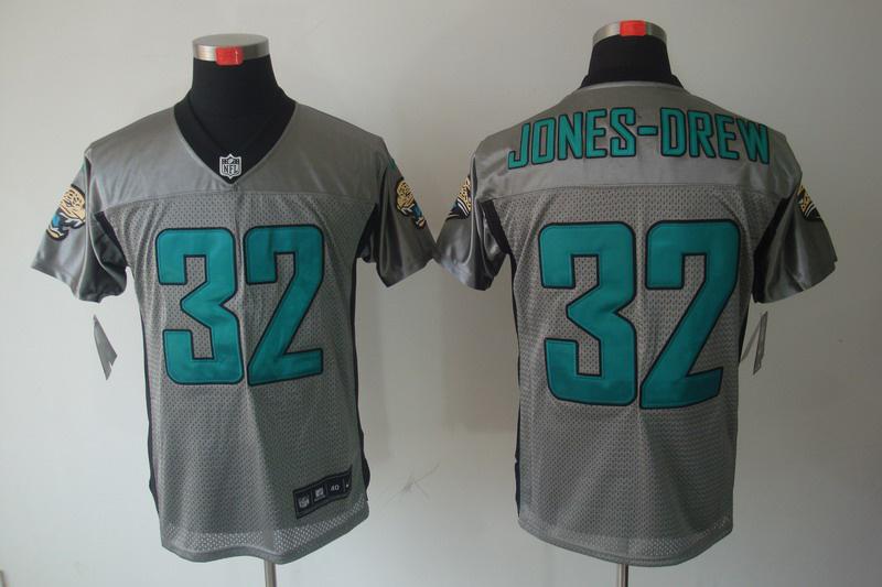 Jacksonville Jaguars 32 JONES-DREW Nike Gray shadow jerseys