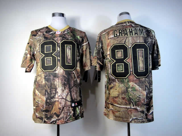 New Orleans Saints 80 Graham Camo Elite Nike jerseys