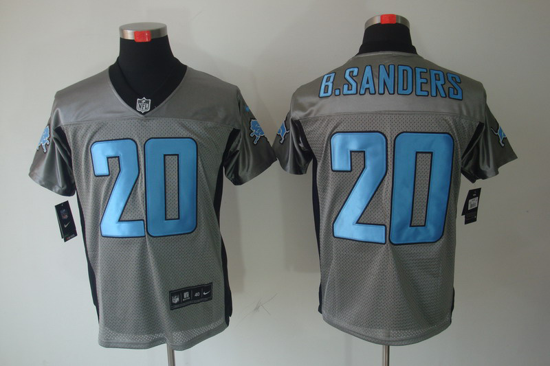 Detroit Lions 20 Barry Sanders Nike Gray shadow jerseys