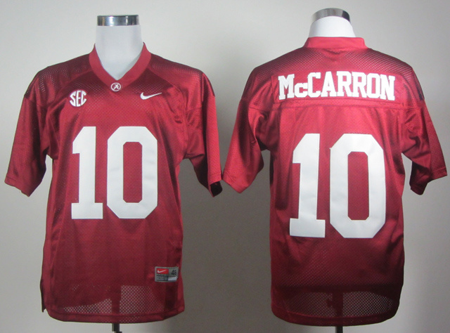 NCAA Alabama Crimson Tide 10 Mccarron red Jerseys