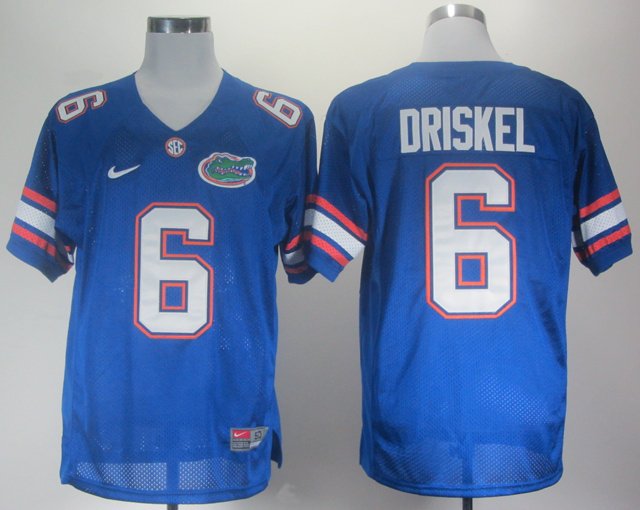 NCAA Florida Gators 6 Driskel blue Jerseys
