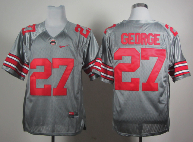 NCAA Ohio State Buckeyes 27 George grey Jerseys