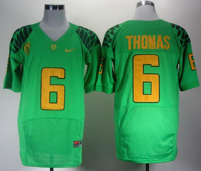 NCAA Oregon Ducks 6 Thomas green Jerseys