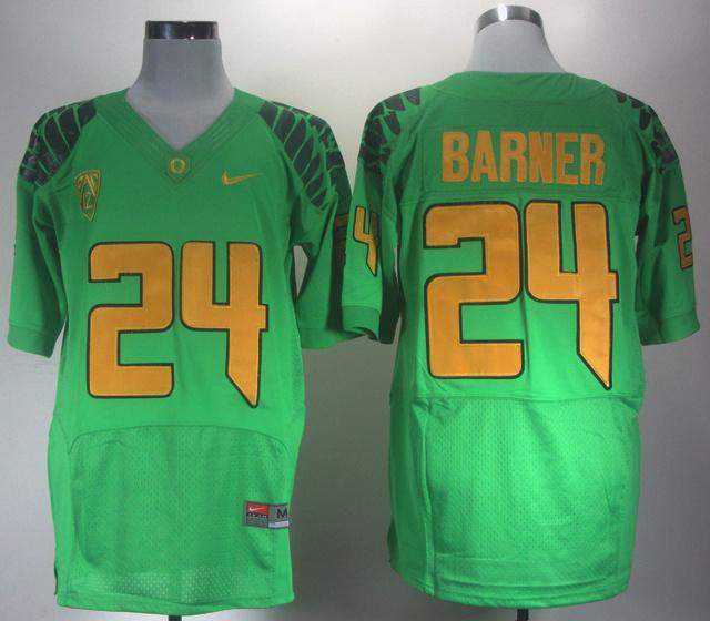 NCAA Oregon Ducks 24 Barner green Jerseys