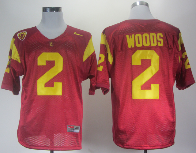 NCAA USC Trojans 2 Robert Woods Red Jersey