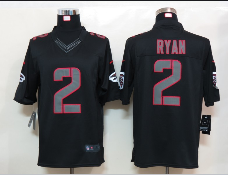 Atlanta Falcons 2 Ryan Impact Nike Limited Black Jersey
