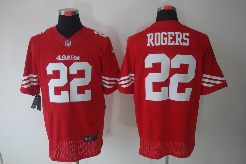 San Francisco 49ers 22 Rogers red Elite Nike jerseys
