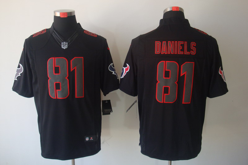 Houston Texans 81 Daniels Impact Nike Limited Black Jersey