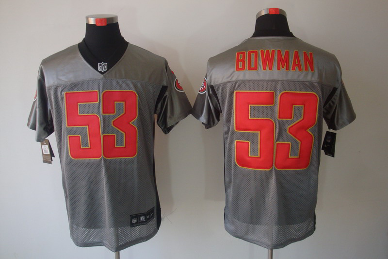 San Francisco 49ers 53 Bowman Nike Gray shadow jerseys
