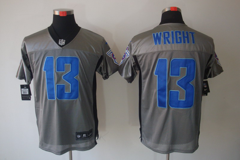 Tennessee Titans 13 Wright Nike Gray shadow jerseys