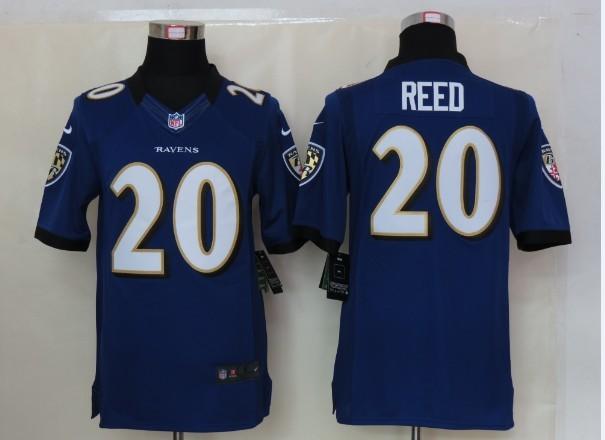 Baltimore Ravens 20 Reed Purple Nike Limited Jersey