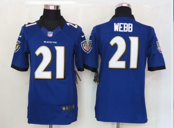 Baltimore Ravens 21 Webb Purple Nike Limited Jersey