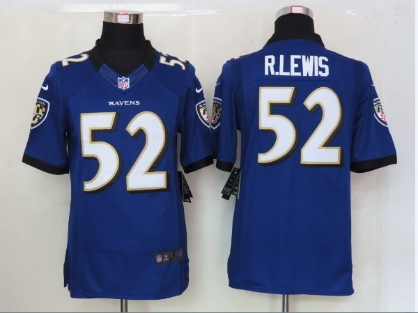 Baltimore Ravens 52 R.Lewis Purple Nike Limited Jersey