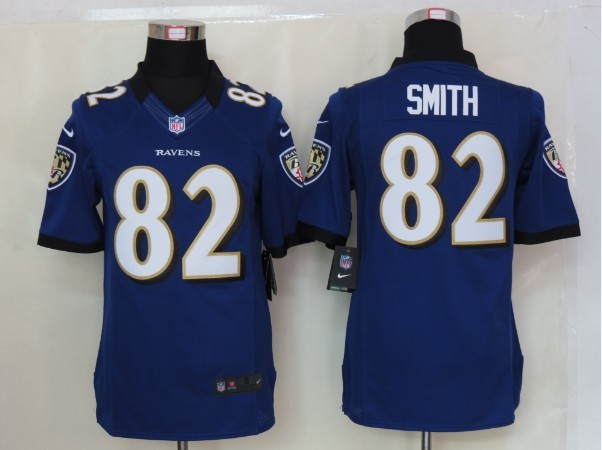 Baltimore Ravens 82 Smith Purple Nike Limited Jersey