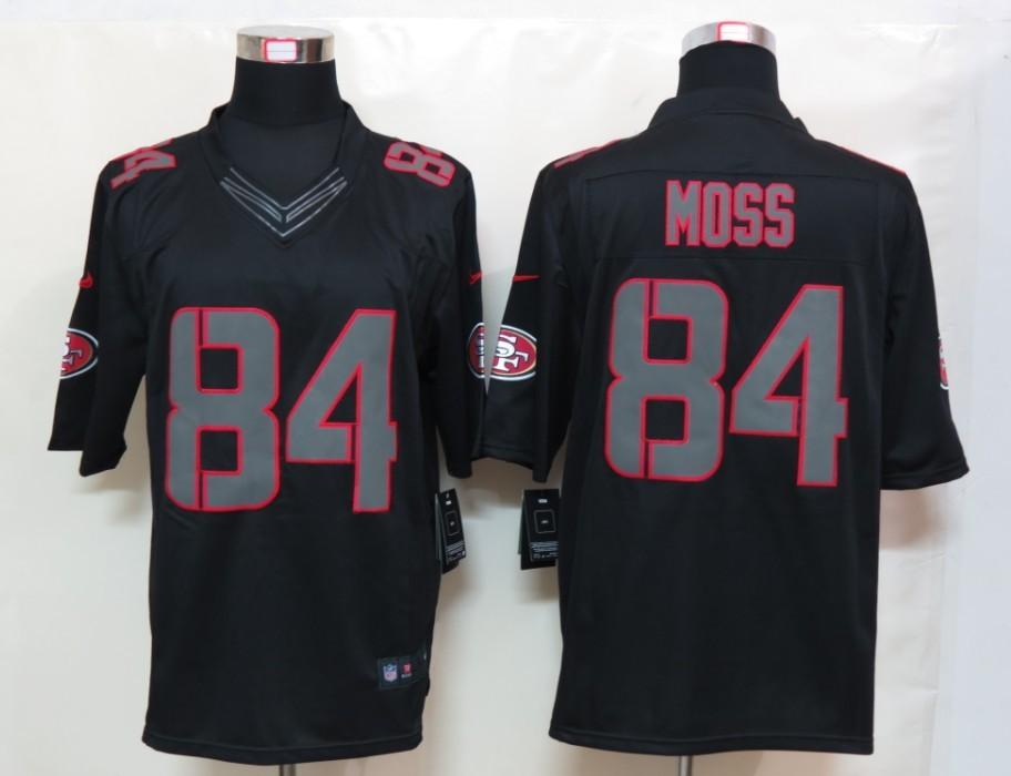 San Francisco 49ers 84 Moss Impact Nike Limited Black Jersey