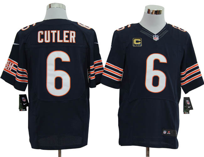 Chicago Bears 6 Cutler Blue with C patch Elite Nike jerseys