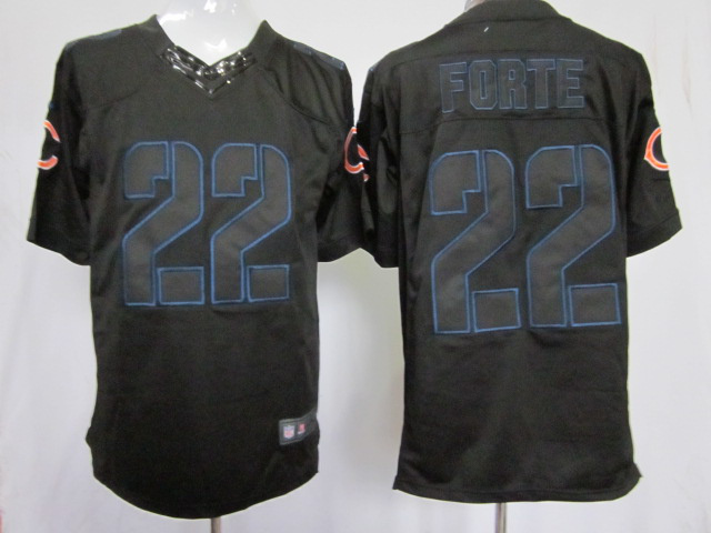 Chicago Bears 22 Forte Impact Nike Limited Black Jersey