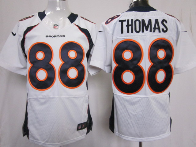 Denver Broncos 88 Thomas white Elite Nike jerseys