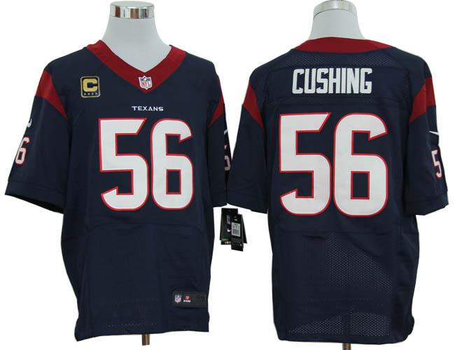 Houston Texans 56 Cushing Blue with C patch Elite Nike jerseys