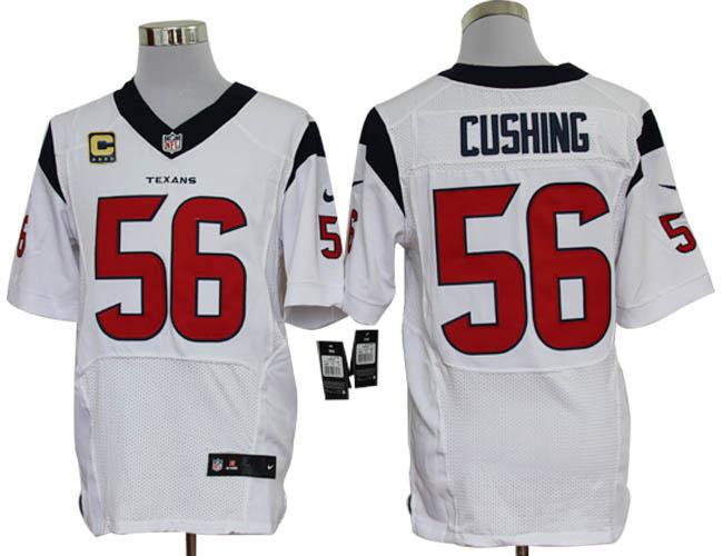 Houston Texans 56 Cushing White with C patch Elite Nike jerseys