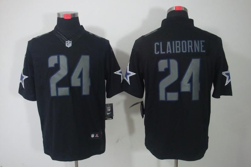 Dallas cowboys 24 Claiborne Impact Nike Limited Black Jersey