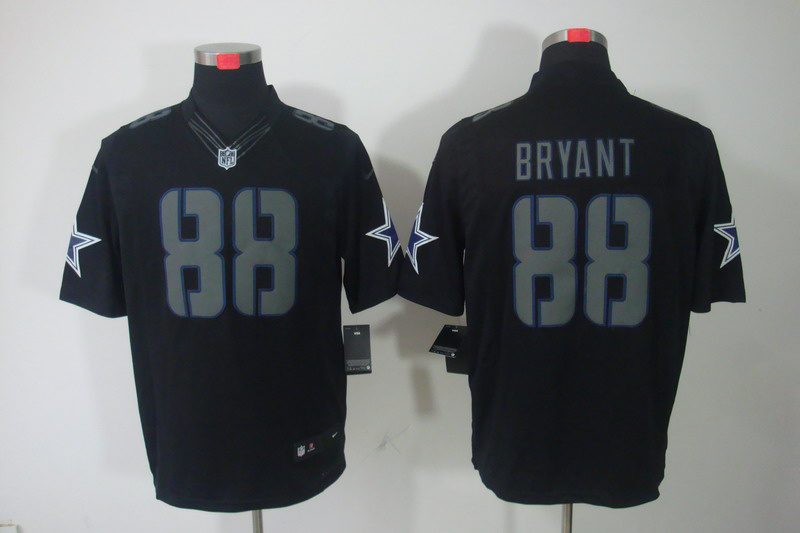 Dallas cowboys 88 Bryant Impact Nike Limited Black Jersey
