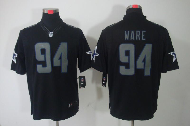 Dallas cowboys 94 Ware Impact Nike Limited Black Jersey