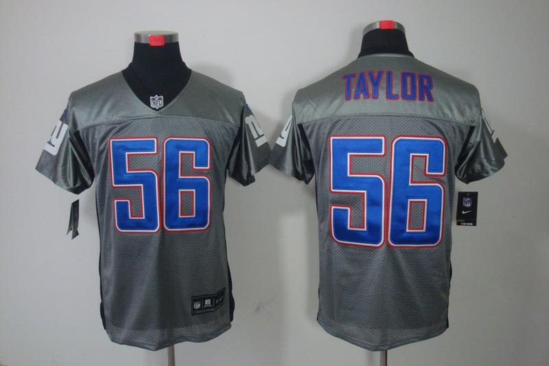 New York Giants 56 Lawrence Taylor Nike Gray shadow jerseys