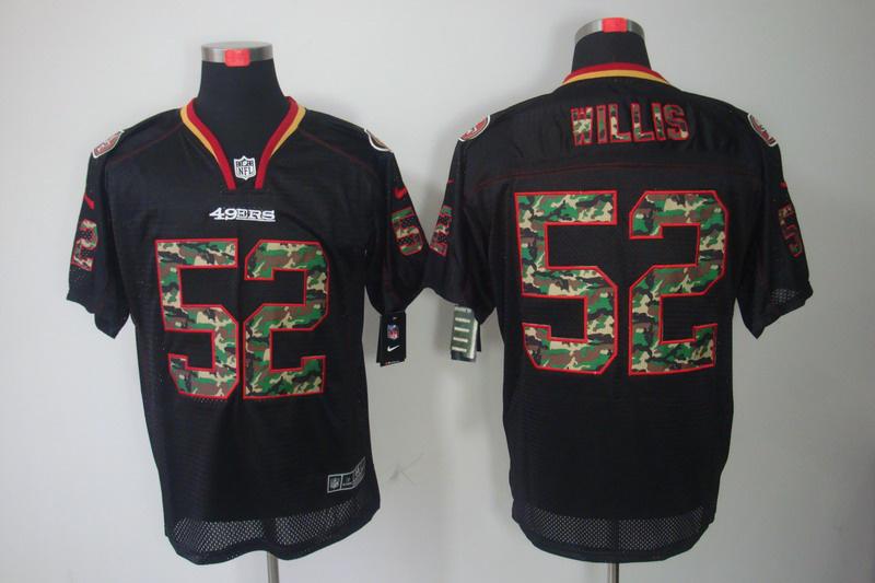 San Francisco 49ers 52 Willis Nike Camo Fashion Elite Jerseys